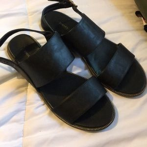 Forever 21 sandals with zipper edges!